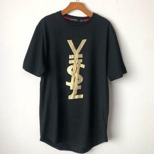 Hudson Outerwear Y$L t-shirt w crystals size L